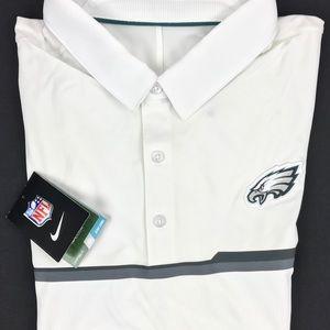 Nike Philadelphia Eagles Dri Fit Polo Shirt Sz L
